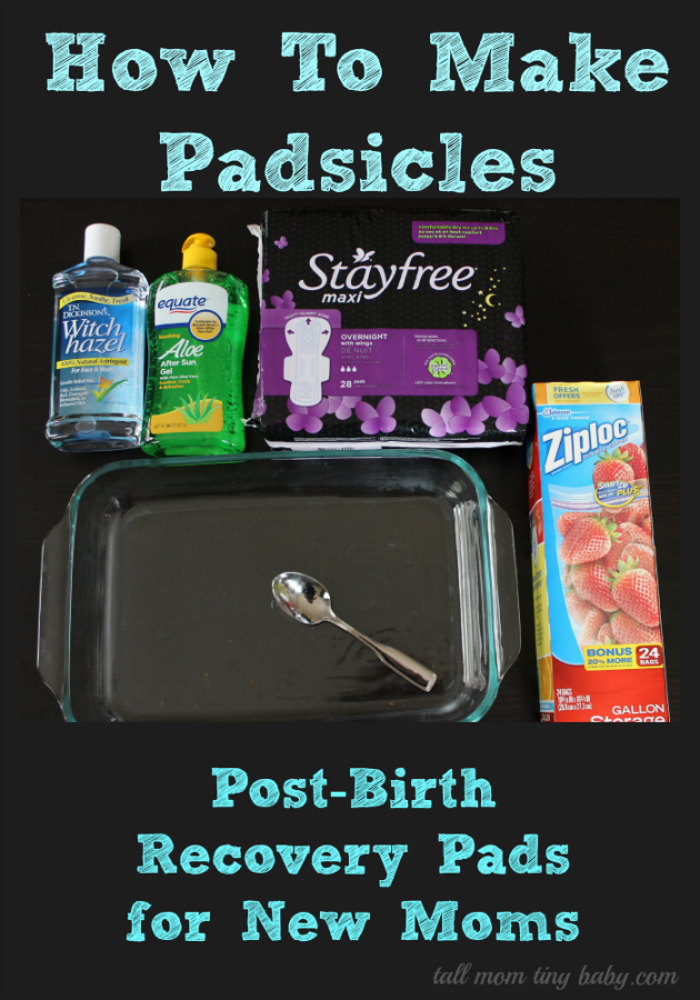 HOW TO MAKE POSTPARTUM PADSICLES / PADSICKLES - Minute With Mary