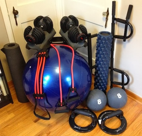 Tall Dad tiny gym - P90X3, Muscle Acceleration, And Getting