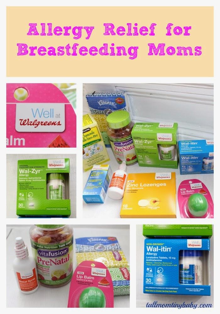 well at walgreens, walgreens, allergy season breastfeeding medicine