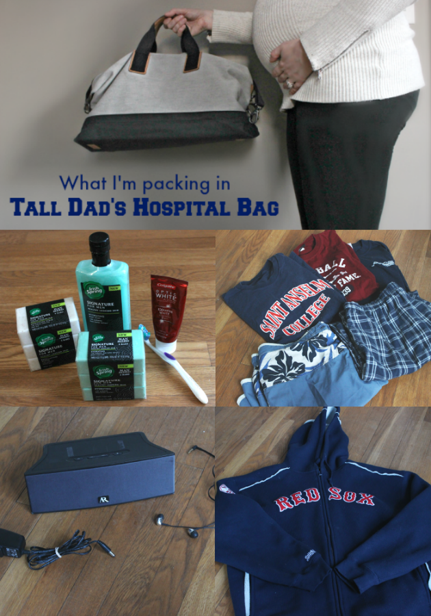 Super helpful list for pregnant moms to be - What to pack in dad's hospital bag for birth