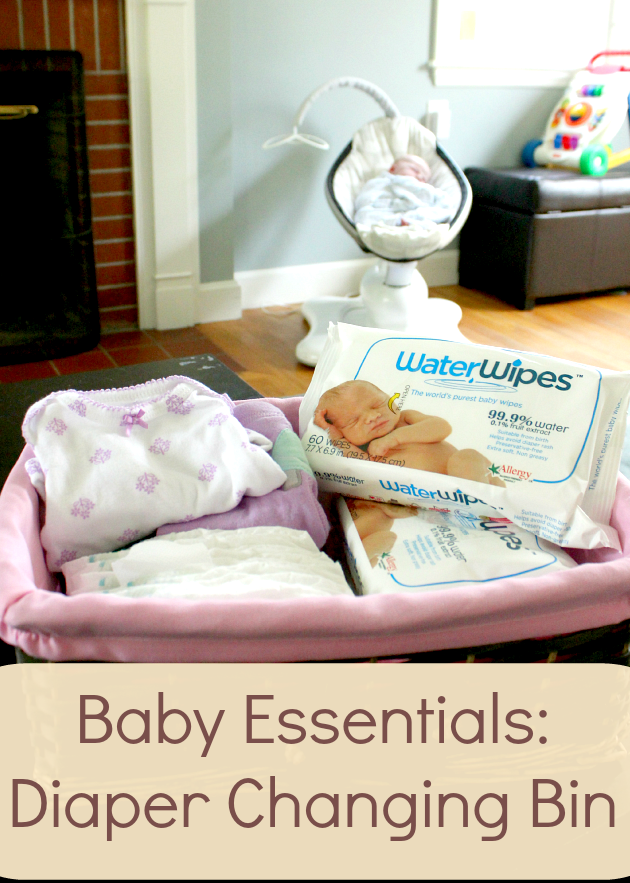 Baby Essentials Diaper Changing Bin Amp Waterwipes Minute