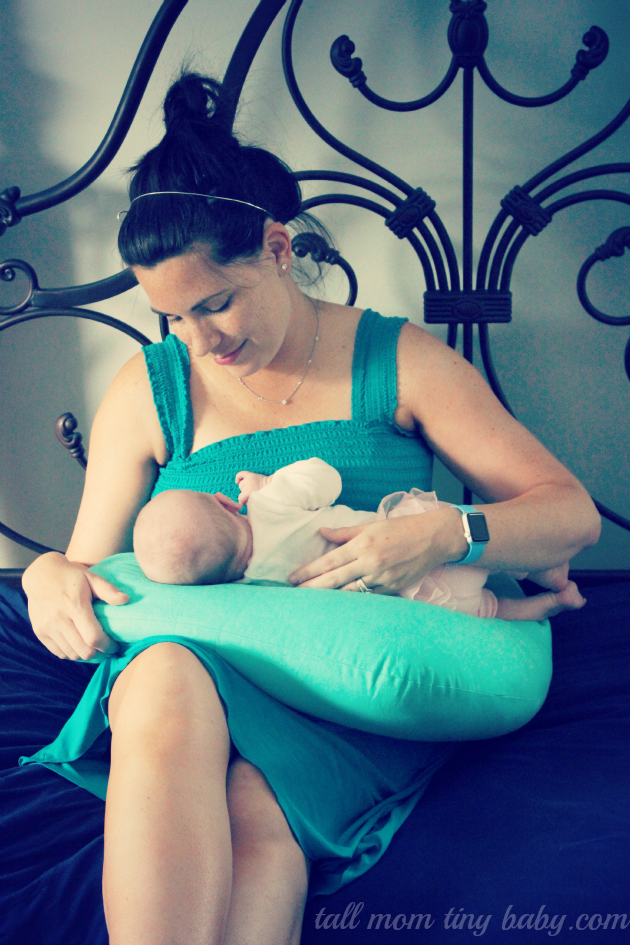 Pretty teal breastfeeding nursing dress by Milk Nursingwear - Milk Nursingwear Review for new moms
