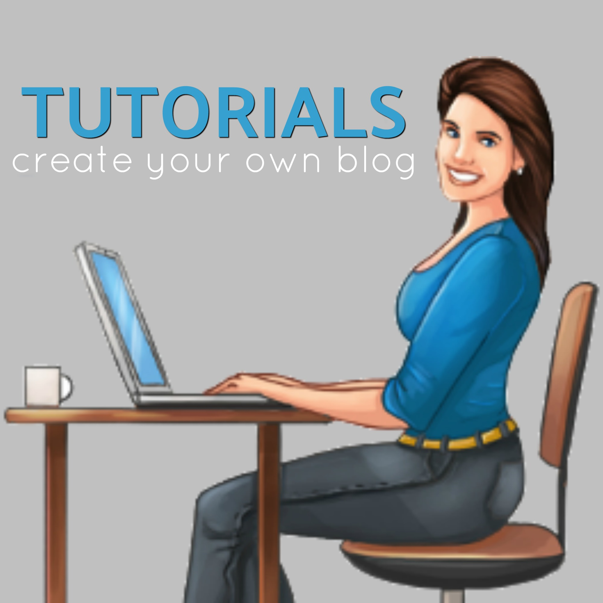 create your own blog tutorial logo